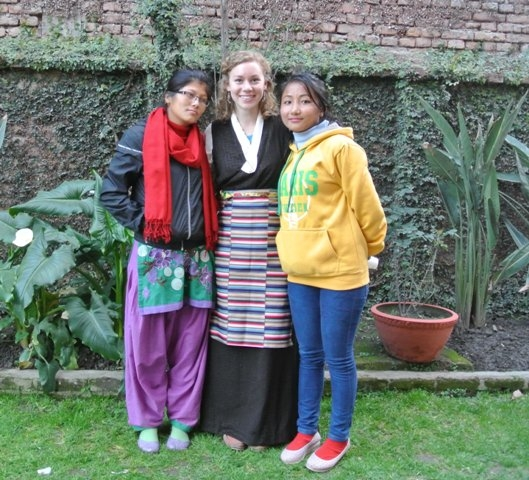 10 Tibetan Buddhist tradiational dress with Bible school students
